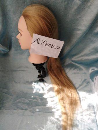 Голова манекена с волосами для причёсок с Алиэкспресс